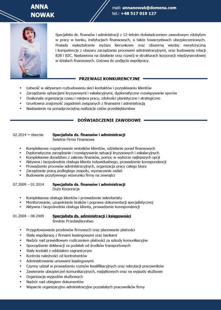 Profesjonalne CV i LM 1